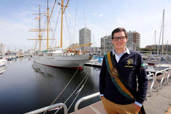 Jan-Baptist Polfliet: nu nog even in thuishaven Oostende, maar straks duikt hij weer het studentenleven in.