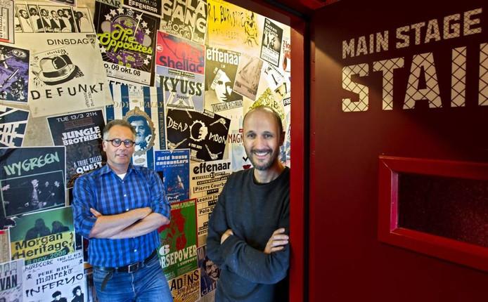 Directeur Jos Feijen (links) en hoofd programmering Robert Schaeffer van De Effenaar.