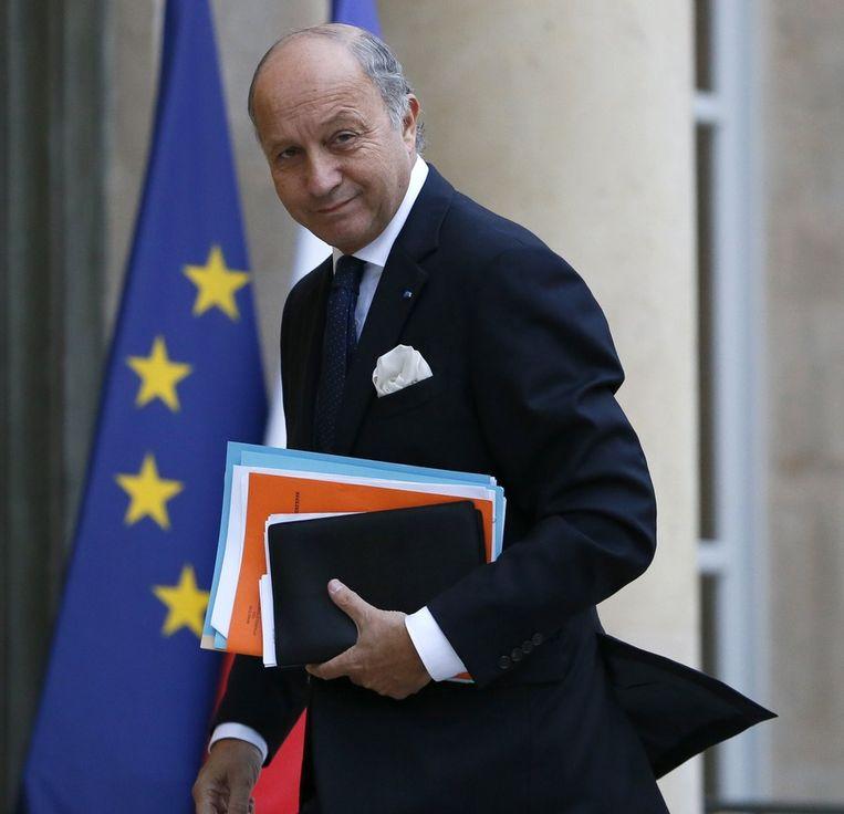 De Franse minister van Buitenlandse Zaken Laurent Fabius. Beeld afp