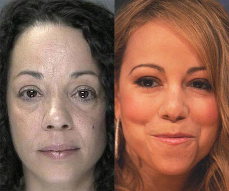 Links zus Alison, rechts Mariah Carey.