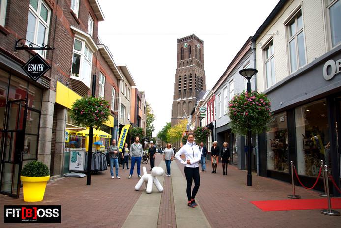 Osse ondernemers uit de Kerkstraat scharen zich letterlijk achter het idee van onderneemster Stacey Tielman.