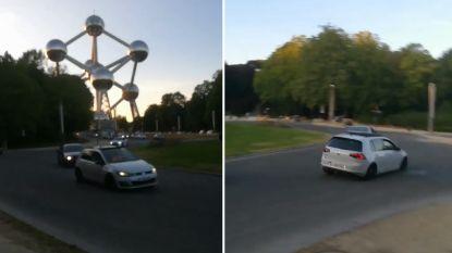 """""""Welkom op het grootste rodeocircuit van Brussel"""": buurt post beelden van racewagens die buurt rond Atomium terroriseren"""
