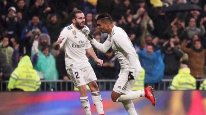 Courtois houdt zijn netten droog in topper tegen Sevilla en ziet hoe Casemiro zich met schitterend afstandsschot tot matchwinnaar kroont