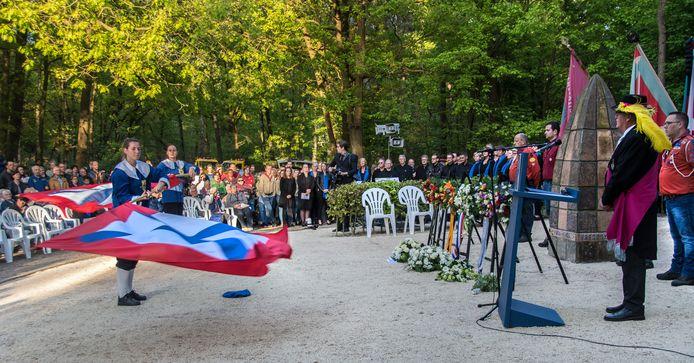 Dodenherdenking van de gemeente Loon op Zand in 2018.