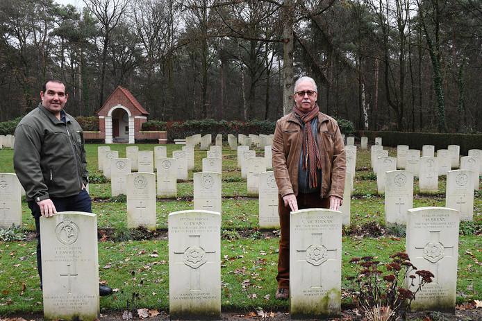 De initiatiefnemers Leo Janssen (r) en Tonnie Ebben.