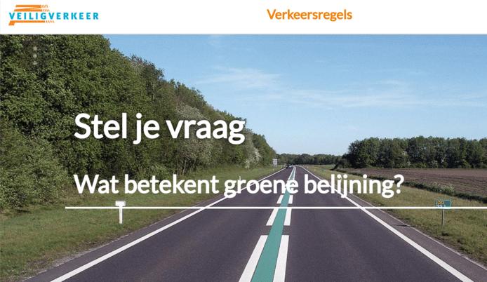 Op de nieuwe website kunnen weggebruikers vragen stellen over tal van verkeerszaken