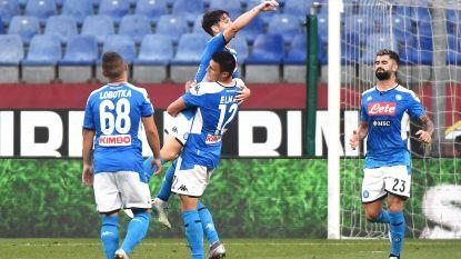 Dries Mertens helpt Napoli met 124ste goal voorbij Genoa