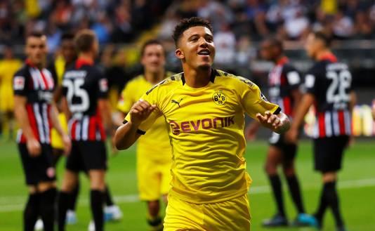 Sancho maakte de winnende 2-1 namens Dortmund.