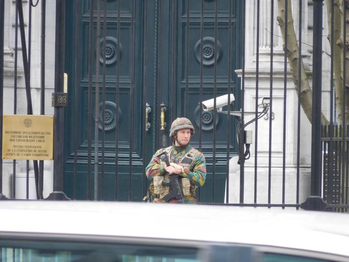Verscherpte beveiliging in Brussel.