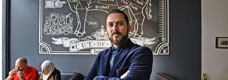 'Mensen zijn tegenwoordig gek op keurmerken', zegt Yamani Hitli, eigenaar van The Burgerhouse in Rotterdam Beeld Guus Dubbelman / de Volkskrant