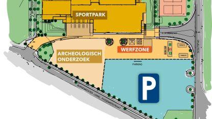 Parking Sportpark tijdelijk kleiner door werken