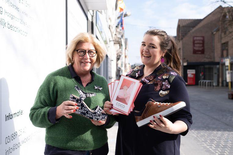 Moeder Lutgart Weymiens en dochter Anouk Van Ranst openen op 1 maart de deuren van schoenenwinkel Coco in de Hoogstraat