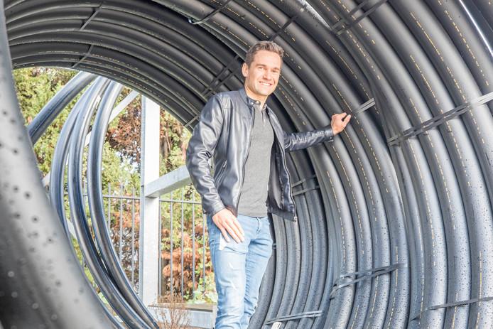 Marco Minnaard reed zondag zijn laatste koers, hij gaat nu werken in het bedrijf van zijn ouders.