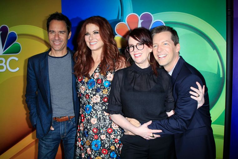 Van links naar rechts: Eric McCormack, Debra Messing, Megan Mullally en Sean Hayes.