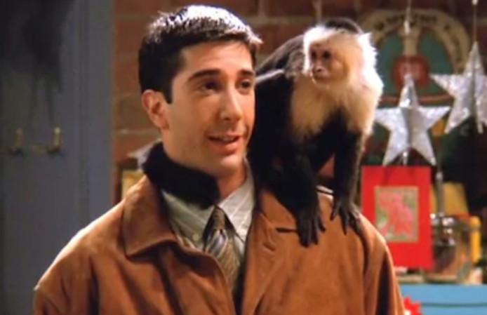 Ross et son ami Marcel dans 'Friends'.