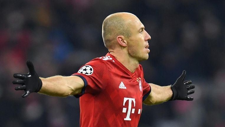 Arjen Robben ondervindt te veel hinder van een bovenbeenblessure. Beeld anp