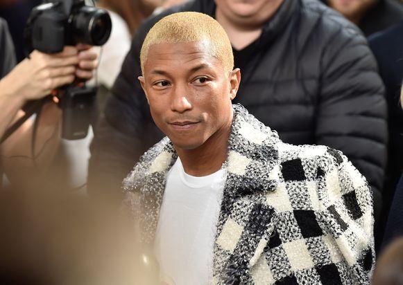 Pharrell Williams hier tijdens een show van Chanel.