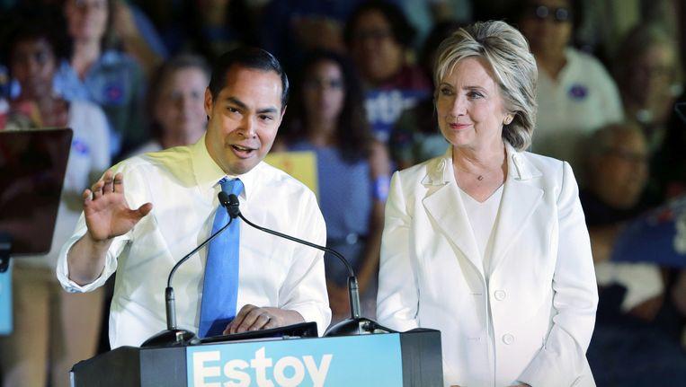 Minister Castro en Clinton Beeld null