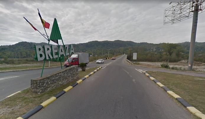 De plek waar het ongeluk gebeurde, vlakbij Breaza, een dorpje in Roemenië.