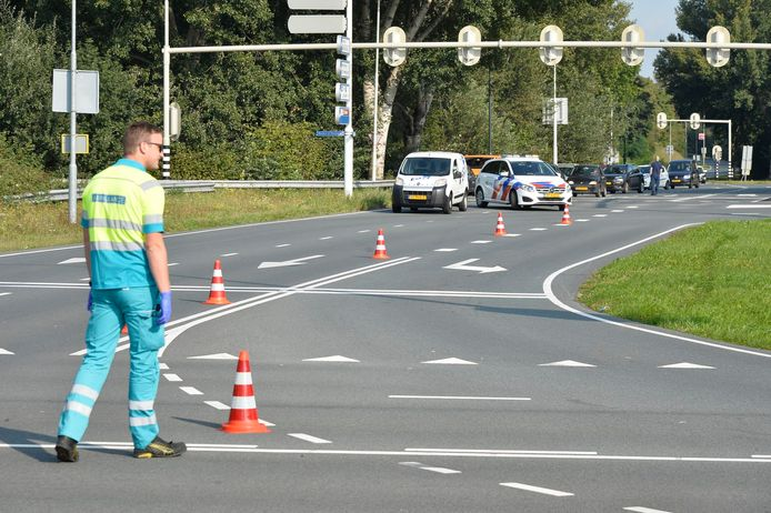 Ongeluk op het kruispunt van de Backer en Ruebweg met de Westerparklaan in Breda.