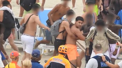 """Politie zoekt herrieschopper """"met oranje short"""" die zich bijzonder agressief gedroeg tijdens strandrellen in Blankenberge"""