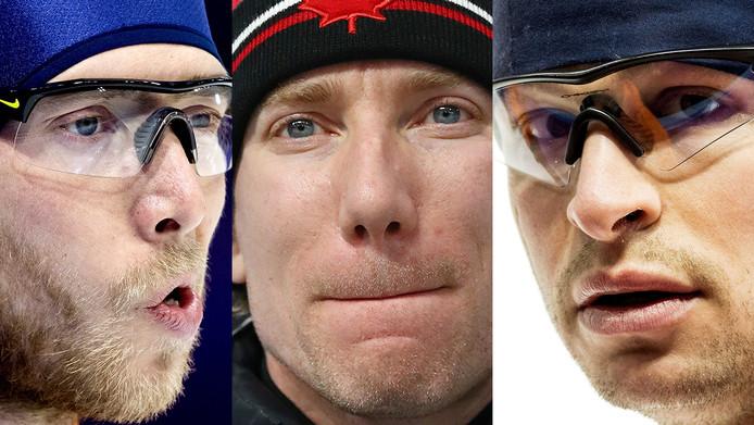 Vlnr: Jorrit Bergsma, Ted-Jan Bloemen en Sven Kramer.