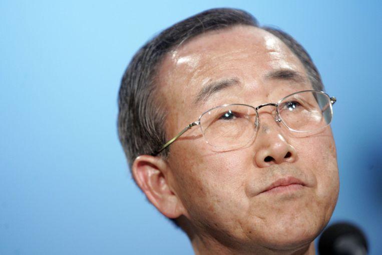 VN-topman Ban Ki-moon noemt de verbanning van de hulporganisaties een 'ernstige slag voor levensreddende operaties in Darfoer en elders in Soedan'. Foto ANP/Evert-Jan Daniels Beeld