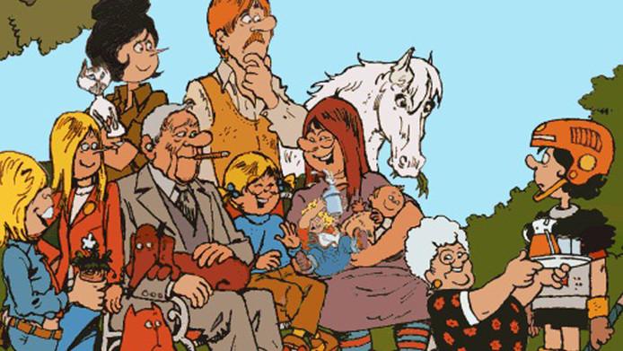 Kruis tekende de strip Jan, Jans en de kinderen voor de Libelle en hield dat bijna 30 jaar vol