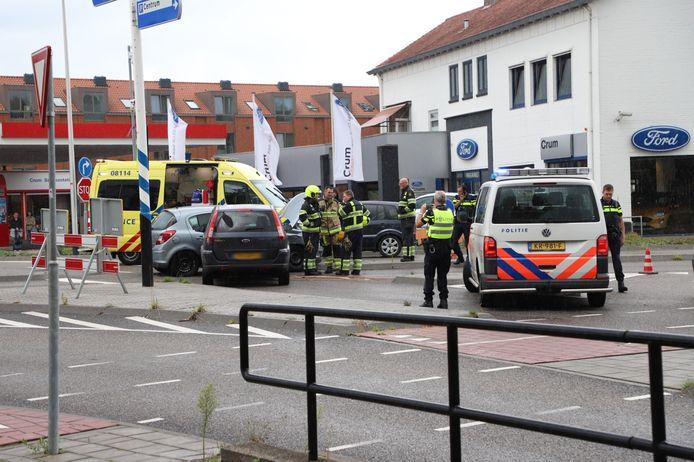 De situatie in Culemborg kort na de aanrijding.