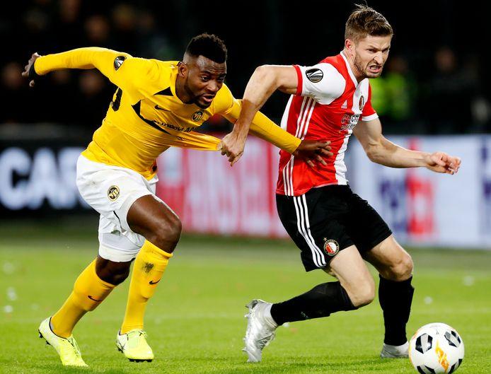 Jan-Arie van der Heijden als speler van Feyenoord.