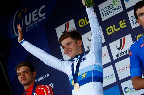 Remco Evenepoel kroonde zich vorig jaar tot Europees kampioen tijdrijden.