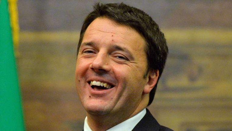 Formateur Metteo Renzi van Italië. Beeld afp