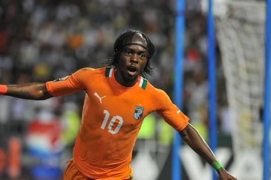 Gervinho als speler van Ivoorkust.