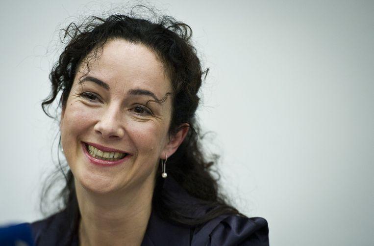 Femke Halsema roert zich weer op het Binnenhof. Beeld anp