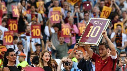 Pakkend eerbetoon voor Totti
