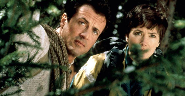 Sylvester Stallone en Janine Turner in Cliffhanger. Beeld