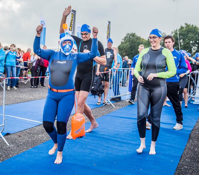 Vorig jaar werd Swim to Fight Cancer Apeldoorn ook al in recreatieplas Bussloo gehouden.