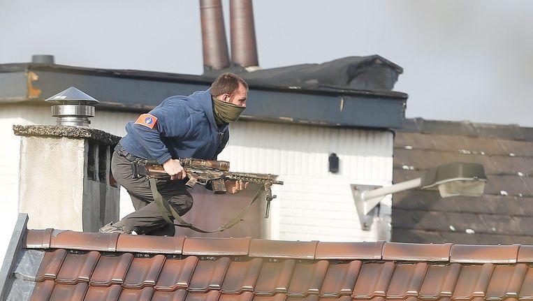 Politieman tijdens schietpartij in Vorst Beeld anp
