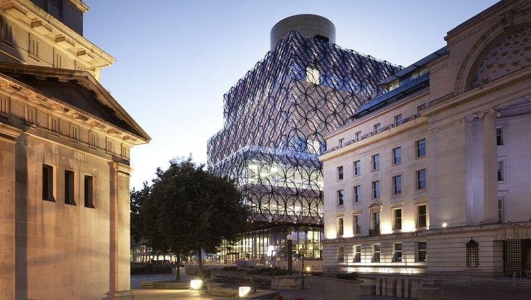 De bibliotheek in het Britse Birmingham, een van de projecten van architect Francine Houben. Beeld Christian Richters