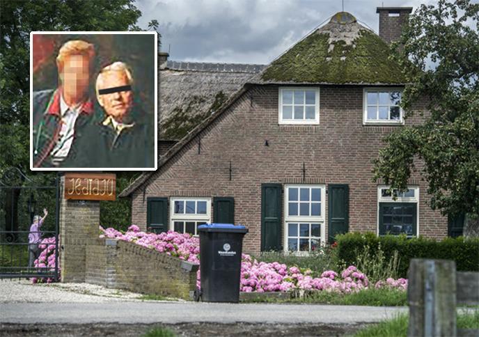 De in opspraak geraakte zorginstelling Hoeve Jedidja in Meerkerk. Inzetje: De gearresteerde Aaldert van E. (rechts).