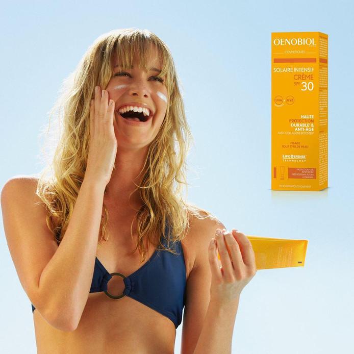 Il existe désormais une crème solaire signée Oenobiol.