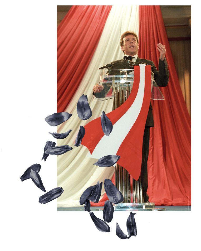 De populistische FPÖ van de omstreden Jörg Haider (overleden in 2008) groeide in de jaren tachtig in heel Oostenrijk, maar de groei was groter in gebieden waar nazi's zich hadden gevestigd. Beeld null