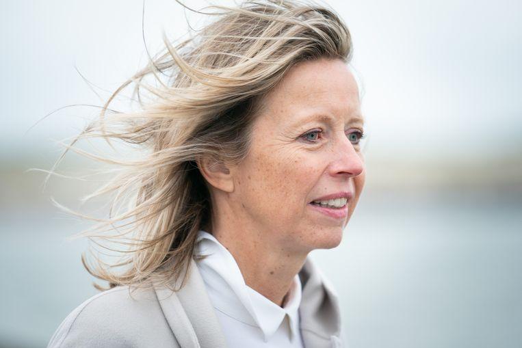 Kajsa Ollongren, vicepremier en minister van Binnenlandse Zaken en Koninkrijksrelaties in het kabinet-Rutte III.  Beeld null
