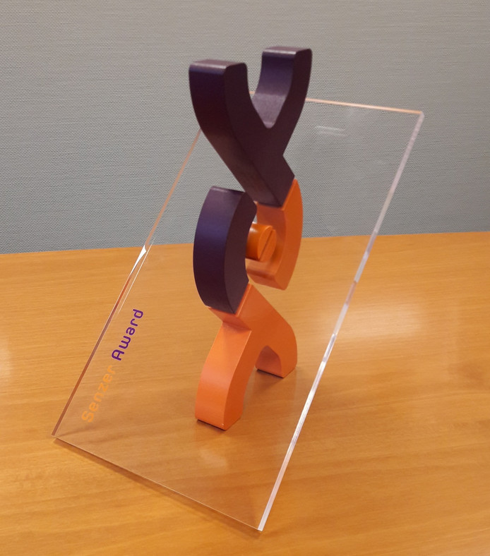De Senzer Award, driedimensionaal geprint.