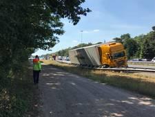 Ongeval met vrachtwagen op A58 bij Oirschot