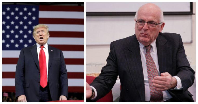 Donald Trump (l.) en Richard Dearlove (r.). Dearlove was MI6-baas van 1999 tot 2004.