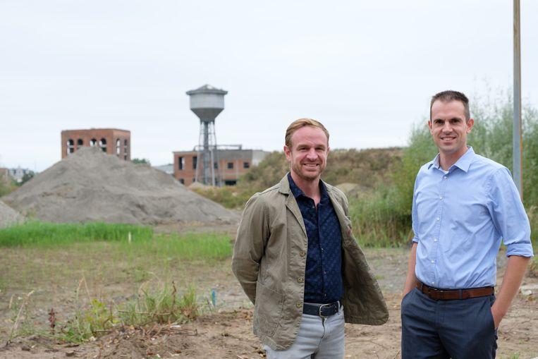 Johan en Sven Peeters maken van het oude pomphuis op de site aan de watertoren een hotel.