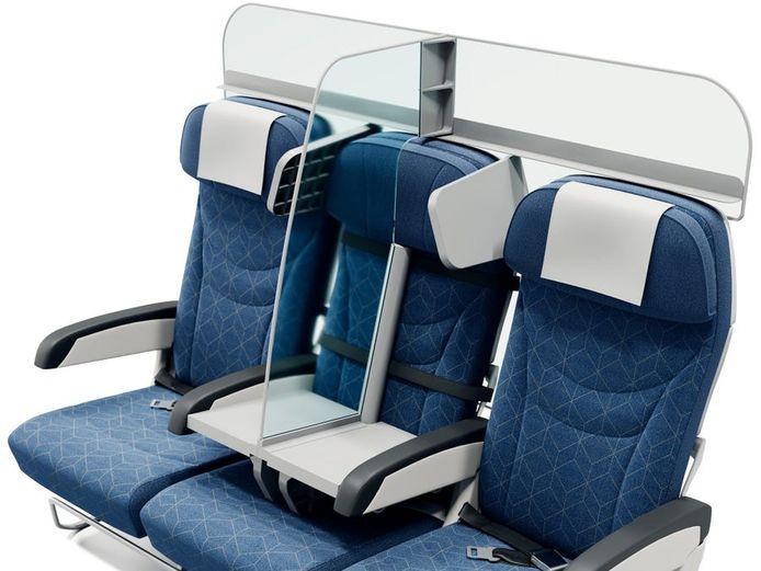 Florian Barjot wil passagiers niet alleen beschermen van de zitjes ernaast, maar ook van de reizigers op de rij erachter.