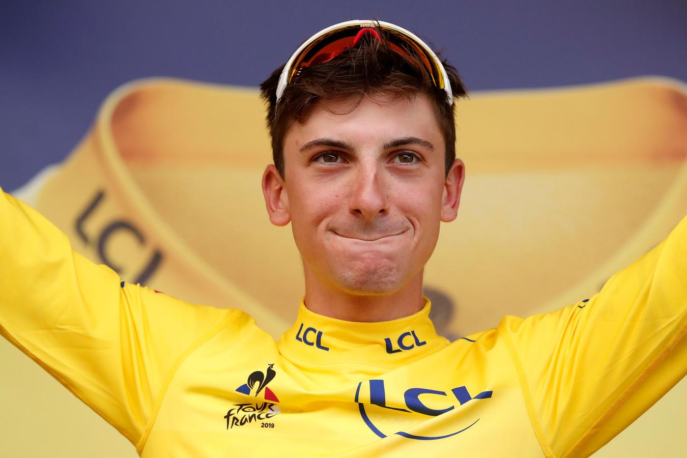 Giulio Ciccone is de nieuwe geletruidrager in de Tour de France.