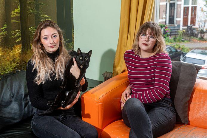 Een van de katten van Moira Verplak (links) is weg, heeft de kattenvanger uit haar buurt hem? Op de foto: kat Loki. Haar andere kat Sok is vermist.
